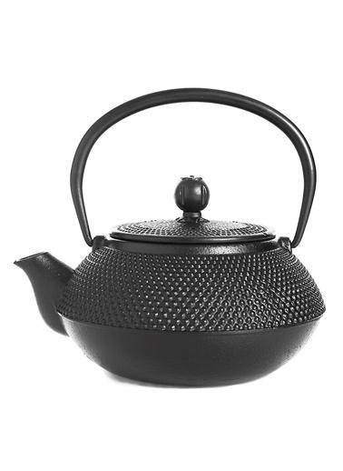 Taşev Linden - Sümbül 800 ml Siyah Döküm Çaydanlık-Bambum